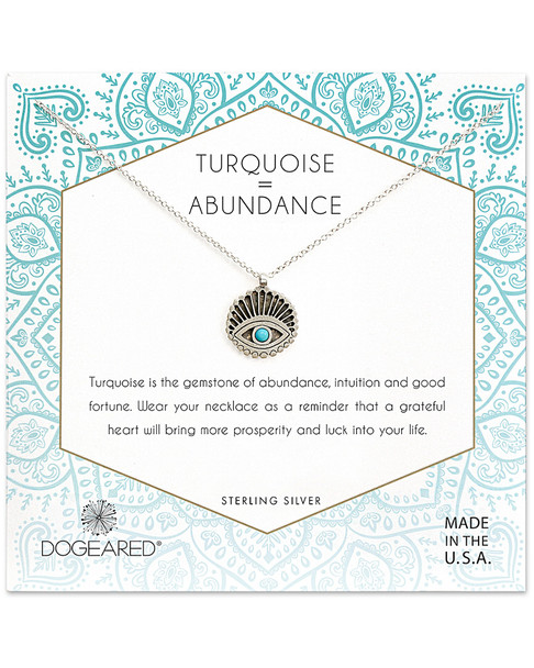 Dogeared Silver Turquoise Necklace~60301692630000