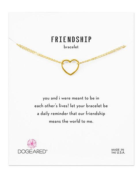 Dogeared 14K Over Silver Friendship Bracelet~60301692660000