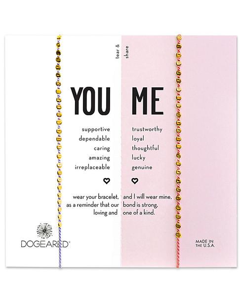 Dogeared 14K Over Silver You & Me Bracelet Set~60301692700000
