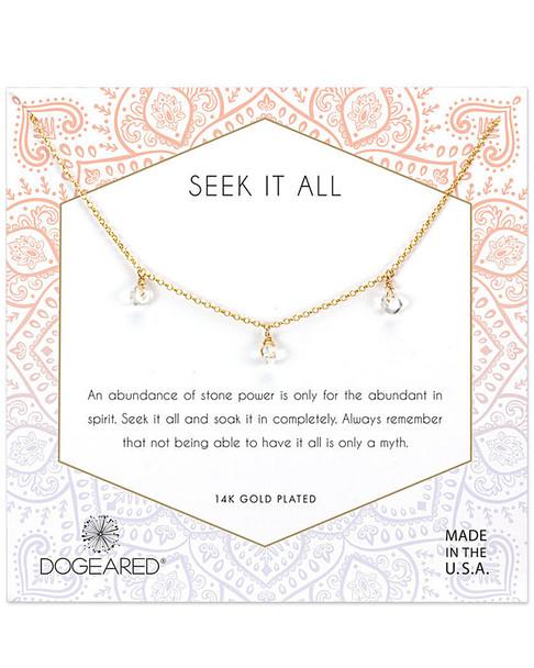 Dogeared 14K Over Silver Rock Crystal Choker Necklace~60301692740000