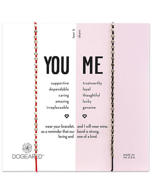 Dogeared Silver You & Me Bracelet Set~60301692790000