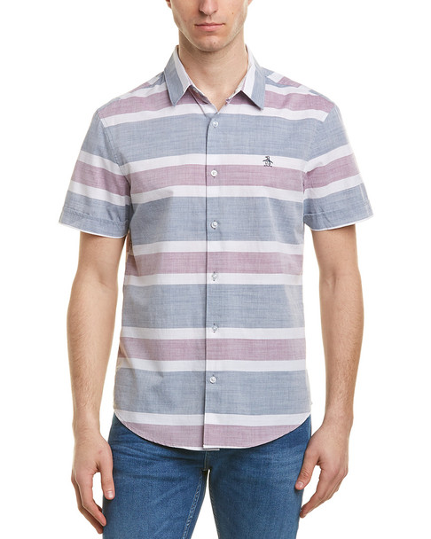 Original Penguin Heritage Slim Fit Woven Shirt~1010183203