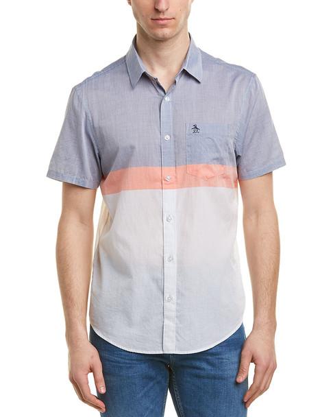 Original Penguin Heritage Slim Fit Woven Shirt~1010183214