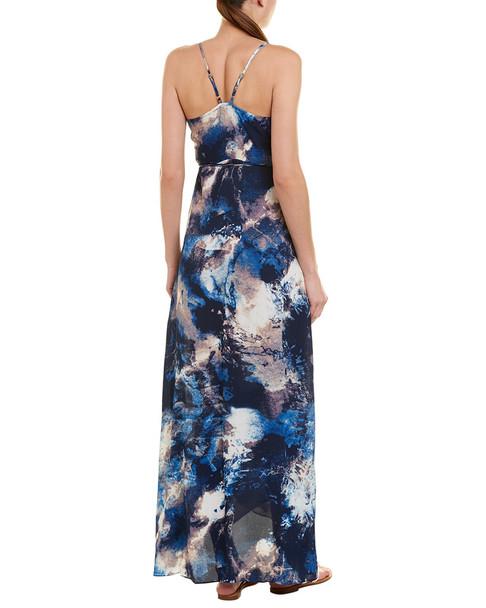 Olivaceous Wraparound Maxi Dress~1411121343