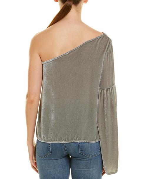 YFB CLOTHING Cherry Silk-Blend Top~1411840258