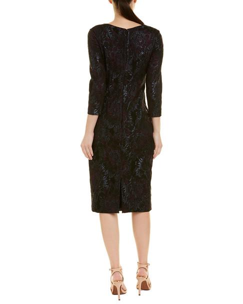 Theia Midi Sheath Dress~1452138839