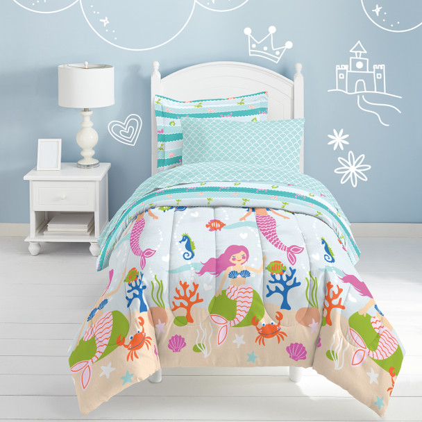 Mermaid Dreams Bed-in-a-Bag - Light Blue~2A86380