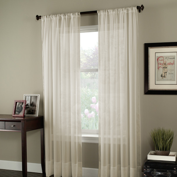 Soho Voile Pole Top Curtain Panel~Oyster*1Q80400