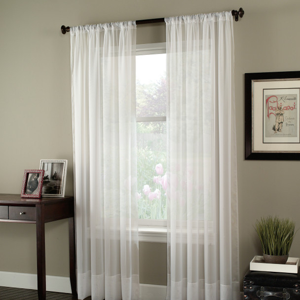 Soho Voile Pole Top Curtain Panel~Winter White*1Q80400