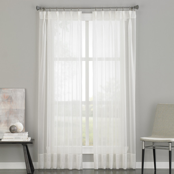 Soho Voile Pinch Pleat Curtain~Oyster*1Q80590