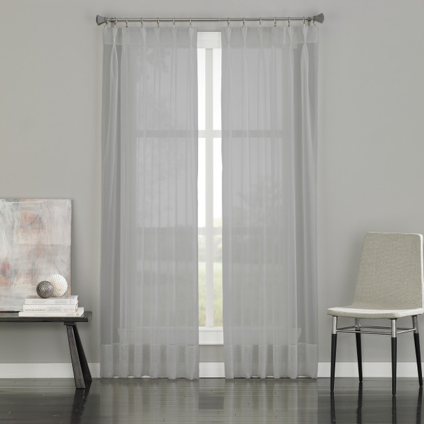 Soho Voile Pinch Pleat Curtain~Silver*1Q80590