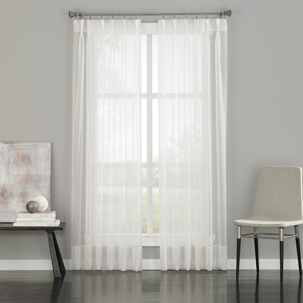 Soho Voile Pinch Pleat Curtain~White*1Q80590