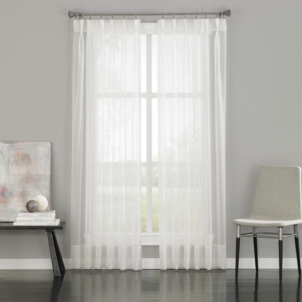 Soho Voile Pinch Pleat Curtain~White*1Q80590