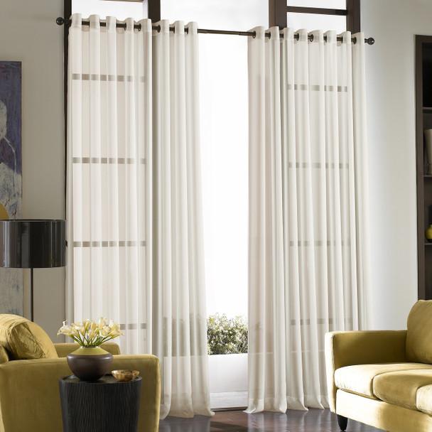 Soho Voile Grommet Curtain~Oyster*1Q80430