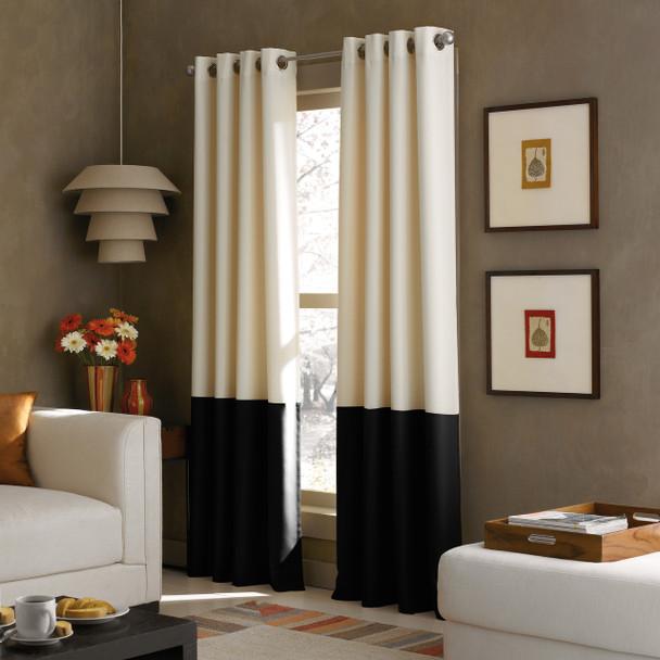 Kendall Grommet Curtain~Black*1Q80370