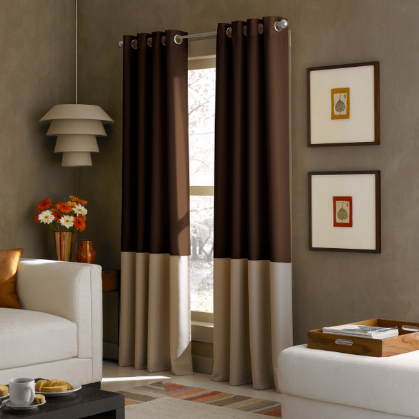 Kendall Grommet Curtain~Chocolate*1Q80370