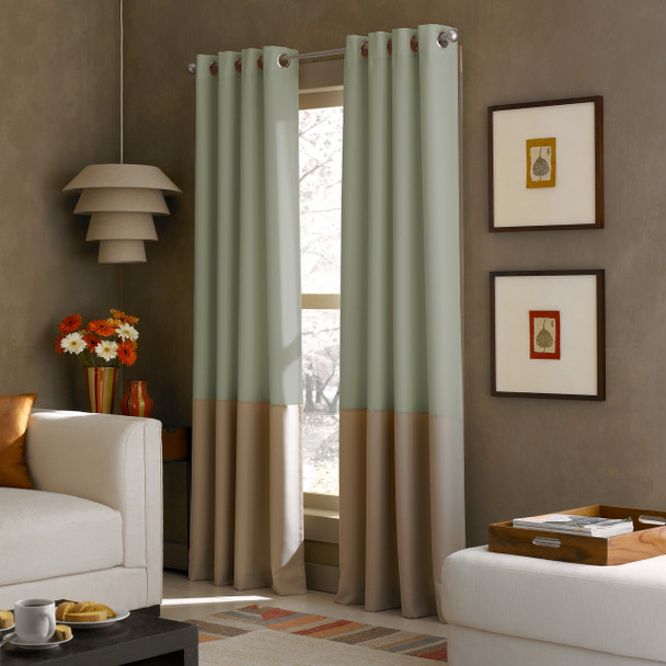 Kendall Grommet Curtain~Peacock*1Q80370