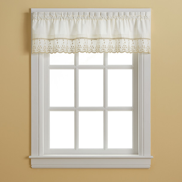 Abby Tailored Valance - Taupe~1J400300TP