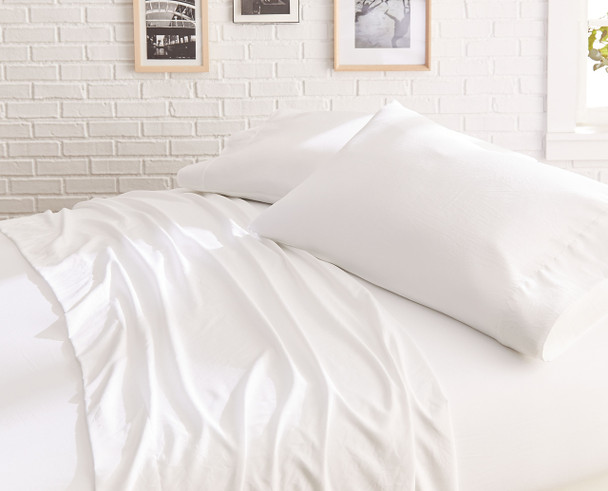 Garment Washed Microfiber Sheet Set~White*2A8653S