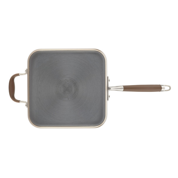 Anolon Advanced Hard-Anodized Nonstick 4-Quart Covered Square Sauté Pan with Helper Handle - Bronze~83866