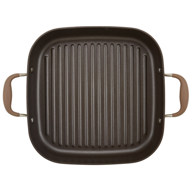 Anolon Advanced Nonstick 11-inch 2-in-1 Deep Square Grill Pan and Square Roaster - Bronze~83869