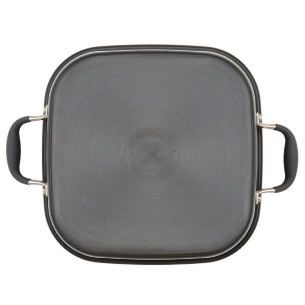 Anolon Advanced Nonstick 11-inch 2-in-1 Deep Square Grill Pan and Square Roaster - Graphite~83865