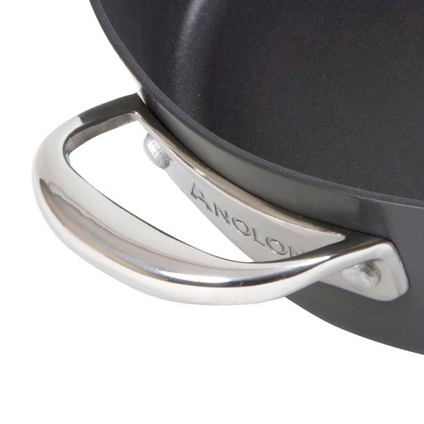 Anolon Nouvelle Copper Hard-Anodized Nonstick 5-Quart Covered Dutch Oven - Dark Gray~82946