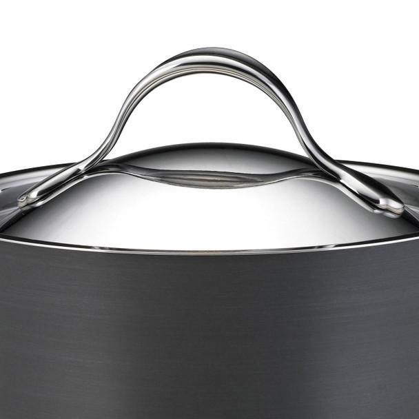 Anolon Nouvelle Copper Hard-Anodized Nonstick 5-Quart Covered Sauté Pan with Helper Handle - Dark Gray~83530