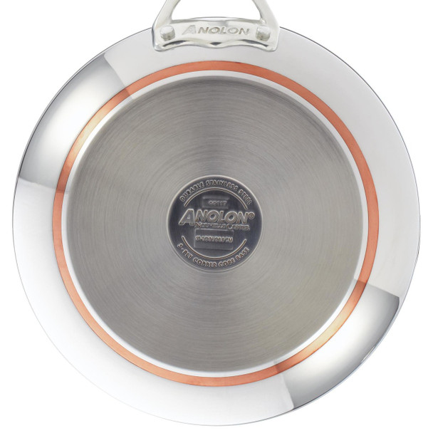 Anolon Nouvelle Copper Stainless Steel 10.5-inch French Skillet~77273