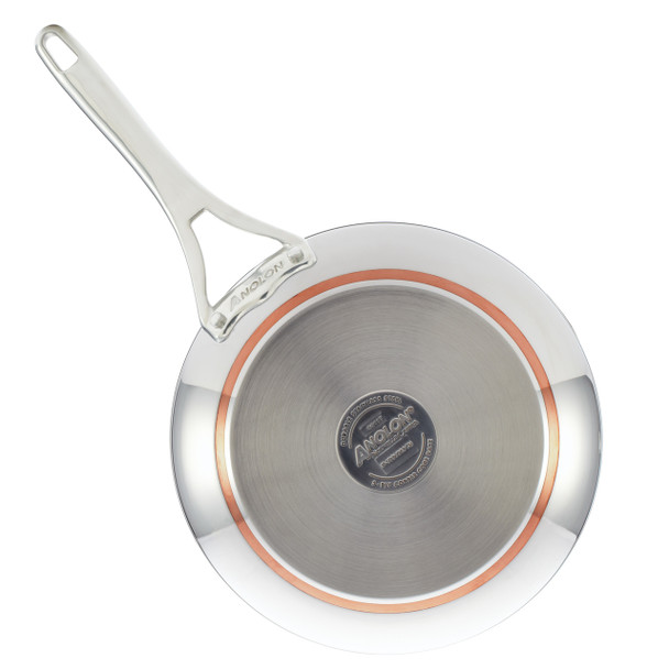 Anolon Nouvelle Copper Stainless Steel 12-inch Covered French Skillet~77711