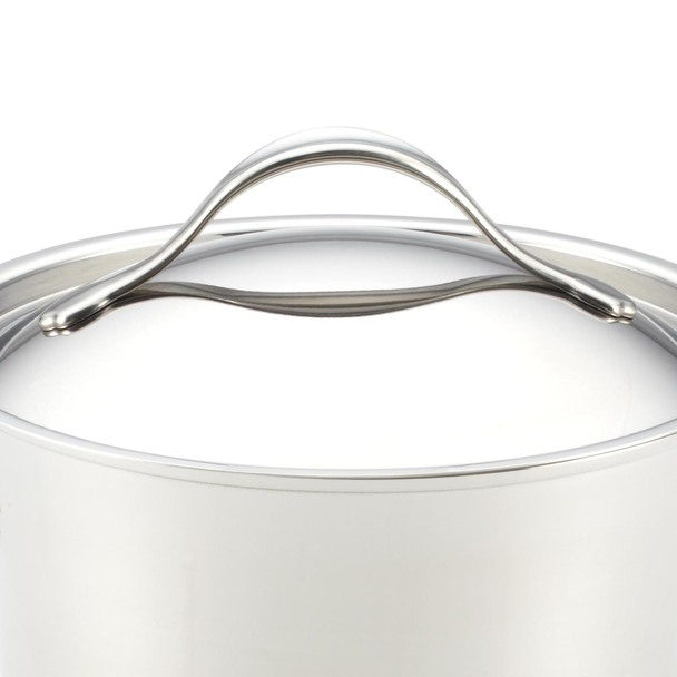 Anolon Nouvelle Copper Stainless Steel 3.5-Quart Covered Straining Sauce Pan~77448