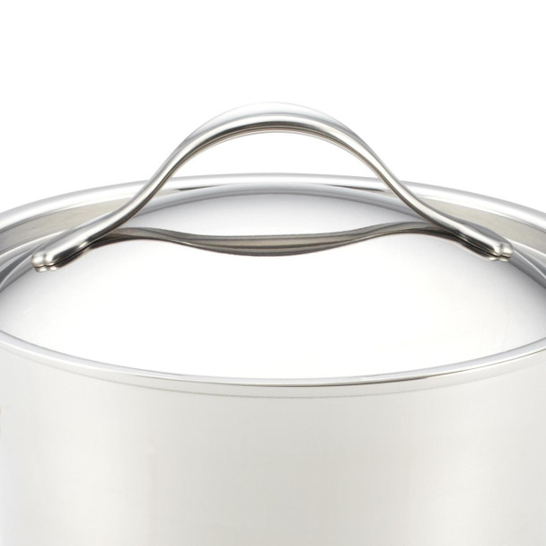 Anolon Nouvelle Copper Stainless Steel 4-Quart Covered Chef Casserole~75855