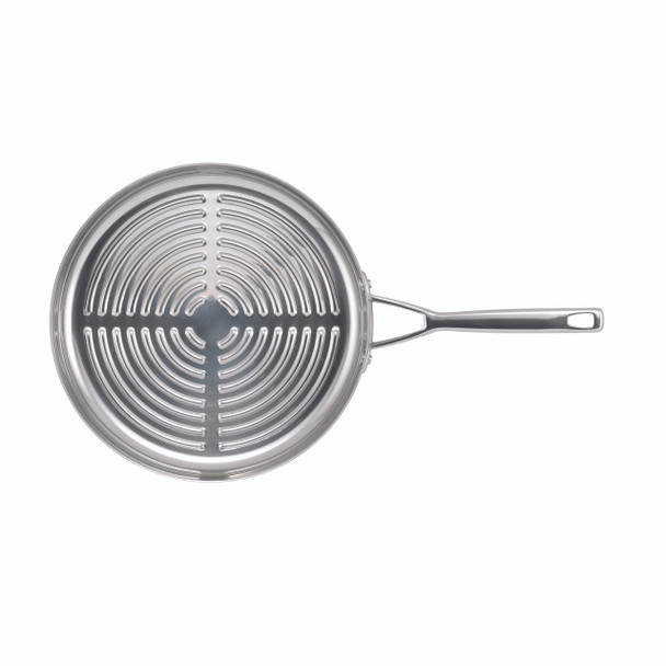 Anolon Tri-Ply Clad Stainless Steel 12-inch Deep Round Grill Pan~30827
