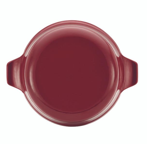 Anolon Vesta Cast Iron Cookware 5-Quart Round Covered Braiser - Paprika Red~51821