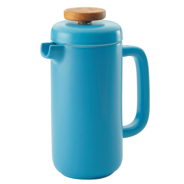 BonJour Ceramic Coffee and Tea 8-Cup Ceramic French Press - Aqua~47468