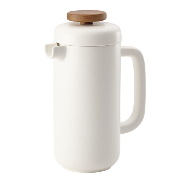 BonJour Ceramic Coffee and Tea 8-Cup Ceramic French Press - Matte White~47467