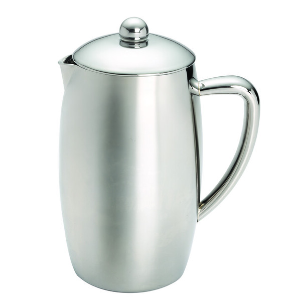 BonJour Coffee Self-Insulated Stainless Steel 33.8-Ounce French Press - Triomphe~53188