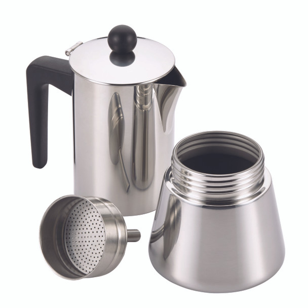 BonJour Coffee Stainless Steel 9-Ounce Stovetop Espresso Maker~53916