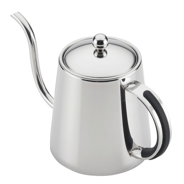 BonJour Stainless Steel 23-Ounce Pour Over Teapot with Black Handle~47474