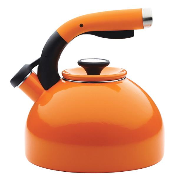 Circulon Enamel-on-Steel 2-Quart Morning Bird Tea Kettle - Orange~46840