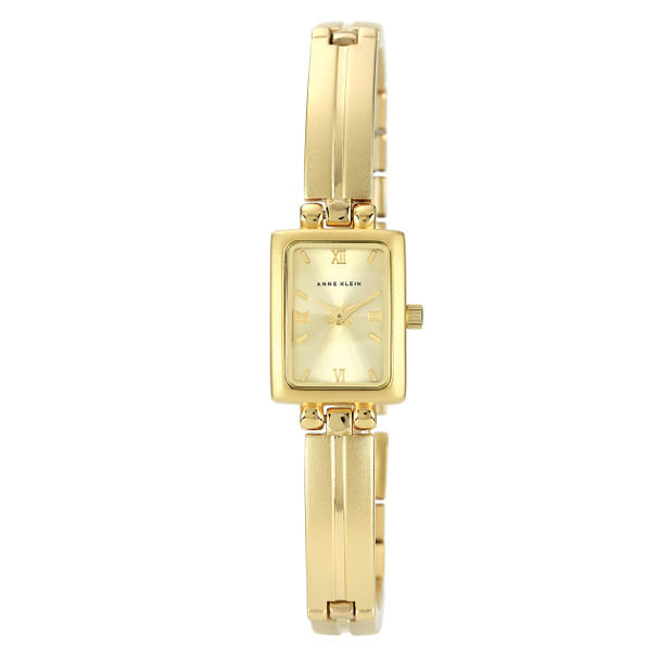 Anne Klein Women's Gold-Tone Solid Link Bracelet Watch~10/5404CHGB