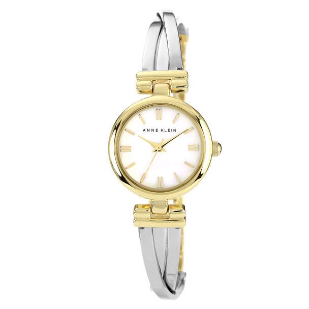 Anne Klein Women's Two-Tone Bangle Bracelet Watch~AK/1171MPTT