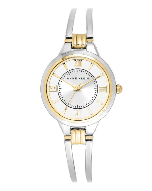 Anne Klein Women's Two-Tone Open Bangle Watch~AK/1441SVTT