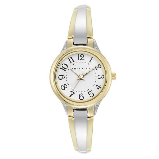 Anne Klein Women's Two-Tone Easy Read Bangle Watch~AK/2453WTTT