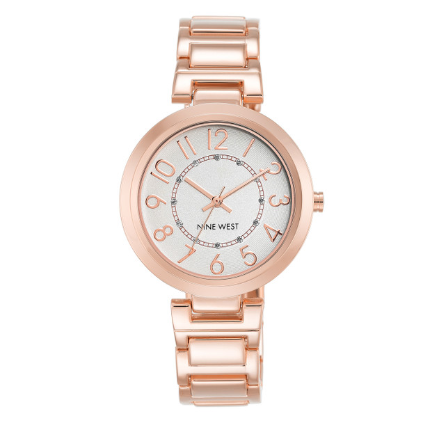 Nine West Women's Easy to Read Dial Bracelet Watch - Rose Gold~NW/1892SVRG