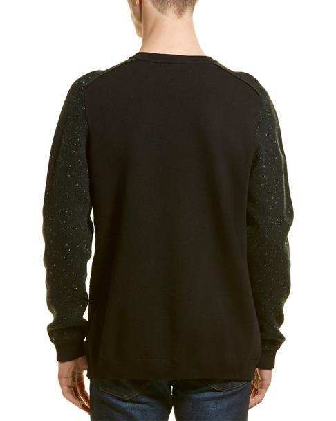 KARL LAGERFELD Speckled Wool-Blend Pullover~1010197036