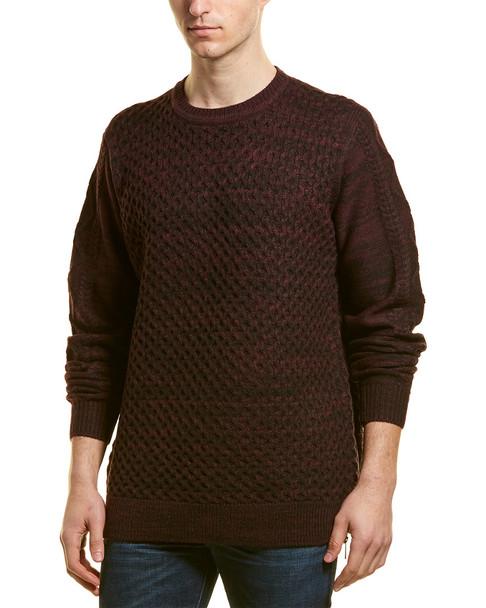 KARL LAGERFELD Textured Wool-Blend Pullover~1010197041