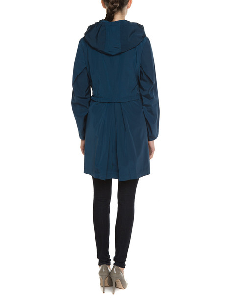 Jane Post London Silky Peacock Hooded Parka~1050520746