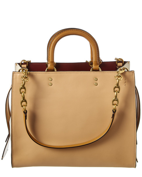 Coach Rogue Colorblocked Leather Tote~11601835090000
