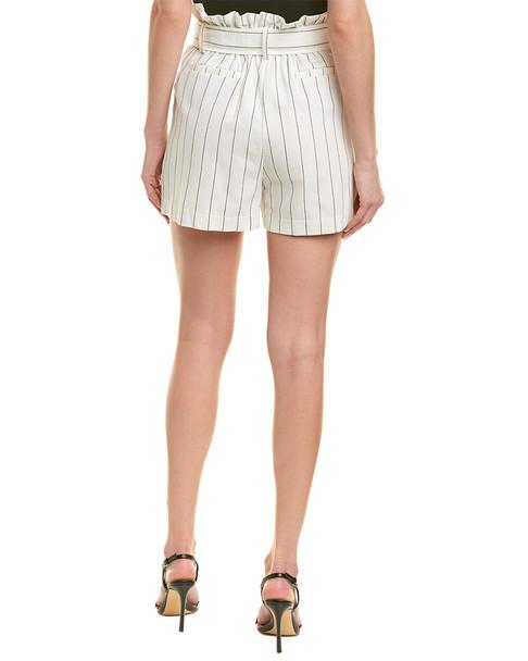 City Sleek Striped Linen-Blend Short~1411157901
